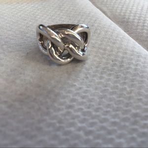 Sterling Silver .925 Knotted Ring
